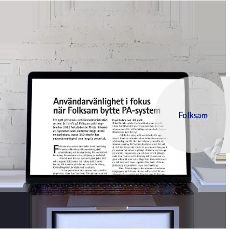 Kundcase Folksam PA system